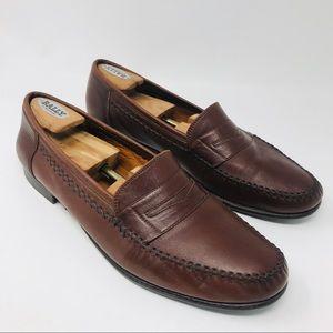 Salvatore Ferragamo Italy Brown Leather Loafers